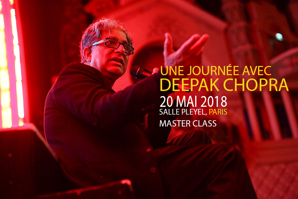 Deepak Chopra à Paris en 2018